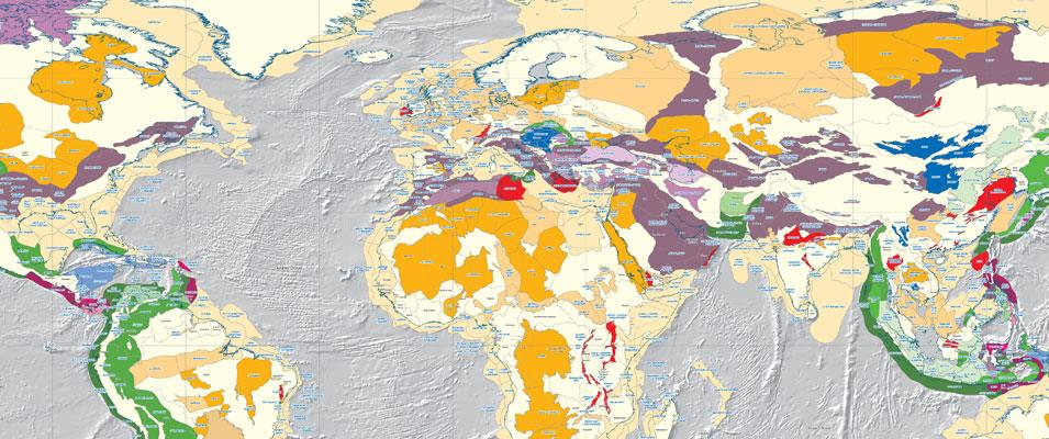 Robertson Tellus Sedimentary Basins of the World Map