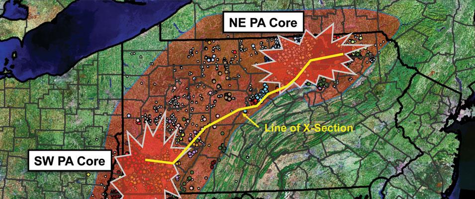 Marcellus Core Areas Differentiated