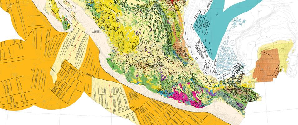 Tectonic Map of Mexico 2013