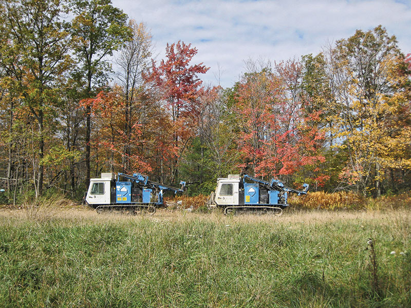 Track drills used for shot hole drilling in the Marcellus Shale. Photos courtesy of Ron Harris and Darren Johnson