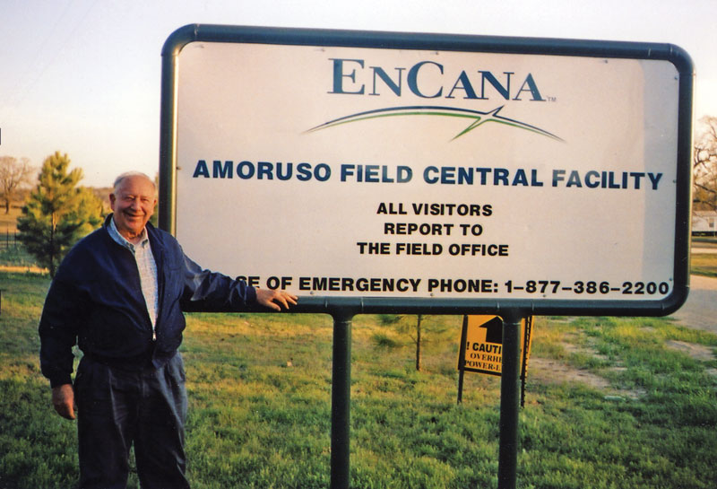 Activity at the East Texas Amoruso Field, named after its discoverer, John Amoruso an Honorary AAPG member who is vice chair of the AAPG Foundation Board of Trustees. He also was AAPG president in 1983-84 and in 2007 was the inaugural recipient of the Halbouty Outstanding Leadership Award. Photo courtesy of John Amoruso.