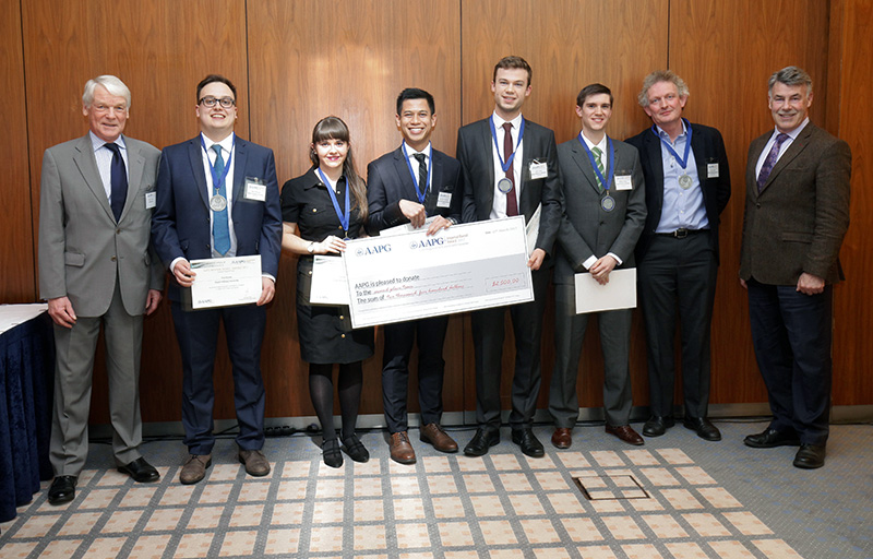 AAPG Europe Region 2nd Place Winners Royal Holloway University of London