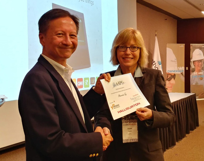 Patrick Ng, Real Core Energy (Deep Learning TIG Founder) with Susan Nash, AAPG
