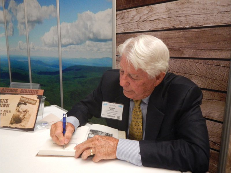 Gene Shinn, signing copies of his book at the recent AAPG Annual Convention and Exhibition in Pittsburgh.