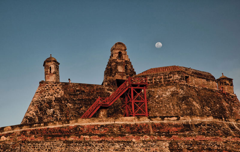The Castillo San Felipe de Barajas, a famous castle on Cartagena's Hill of San Lázaro, is a 16th century fortress that dominates and reflects the city's history, culture and strategic importance. Photos courtesy of Mario De Freitas