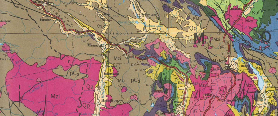 Northern Rocky Mountain Geological Highway Map - Download