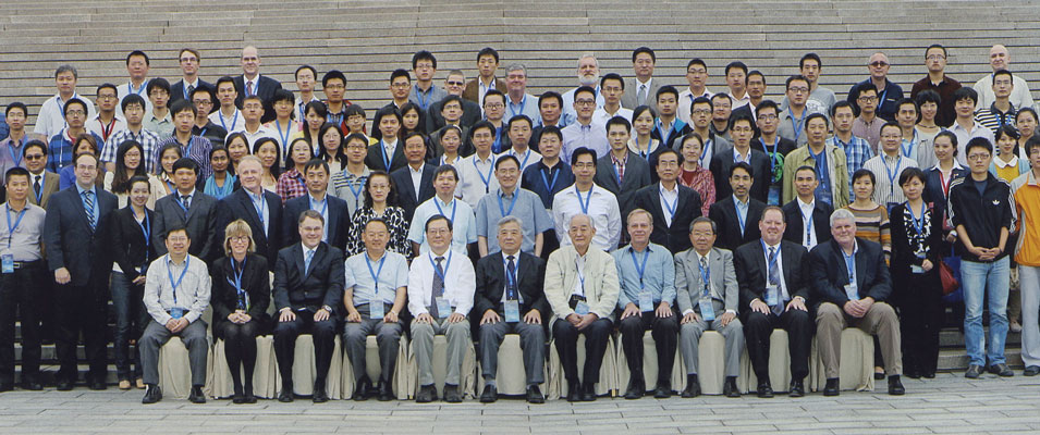 Some of the participants at the AAPG, SEPM, China University of Petroleum-Beijing and RIPED-PetroChina joint research symposium on Fine- Grained Sedimentary Systems and Unconventional Resources, held in September in Beijing.