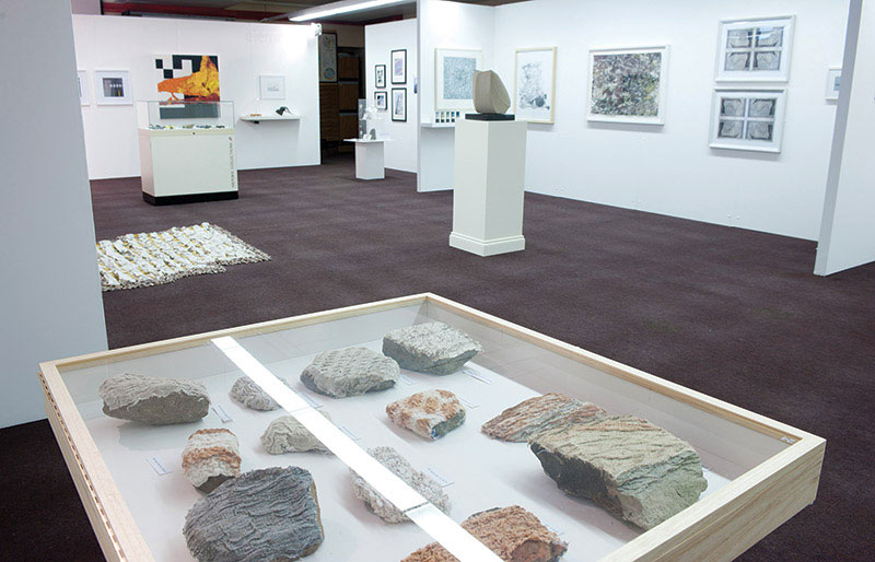 The popular Fabric of the Land, an exhibit that blends art and geology, celebrates its fifth anniversary this month at the University of Aberdeen in Scotland. Photo courtesy of Fabric of the Land.