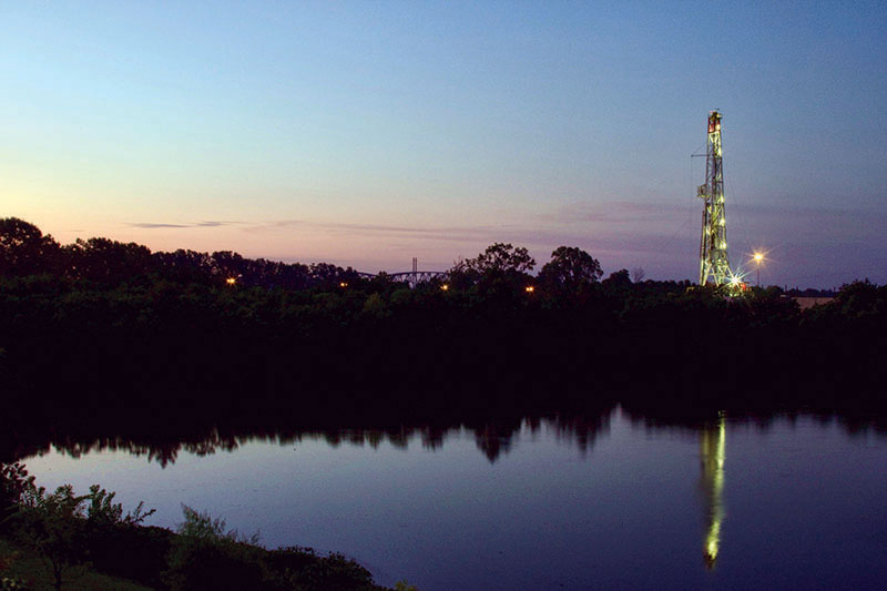For the first time, water issues will be the subject of an AAPG Geosciences Technology Workshop in February. Above, an idyllic pond flanks a natural gas site near Shreveport, La. Photo courtesy of Daniel Foster
