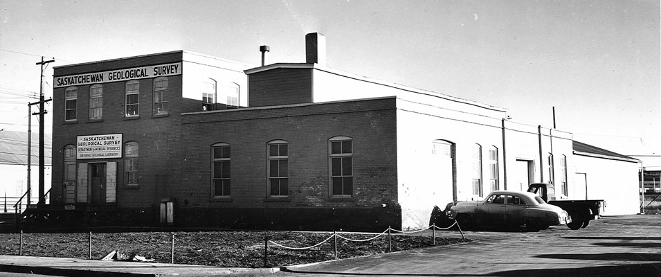 The converted chicken processing factory, Regina's first core storage facility.