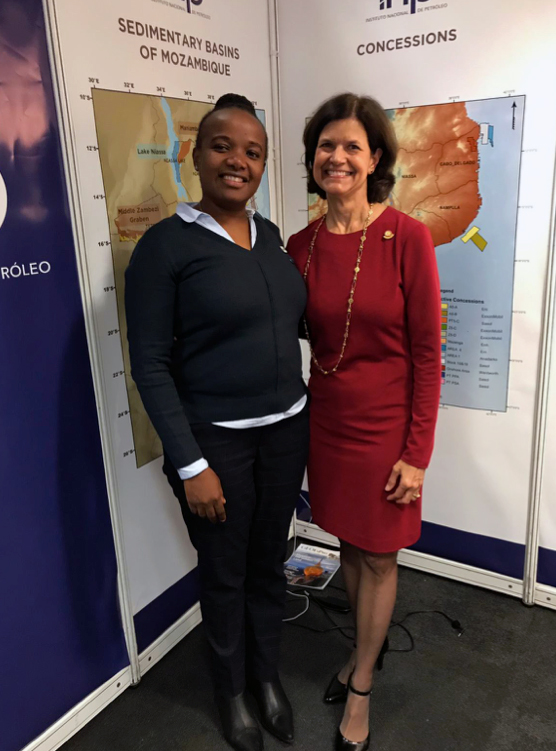 APPEX- AAPG 2019 Conference London, (Monica Juvane Speaker and Denise Cox, AAPG Former President)