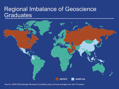 Regional Imbalance of Geoscience Graduates