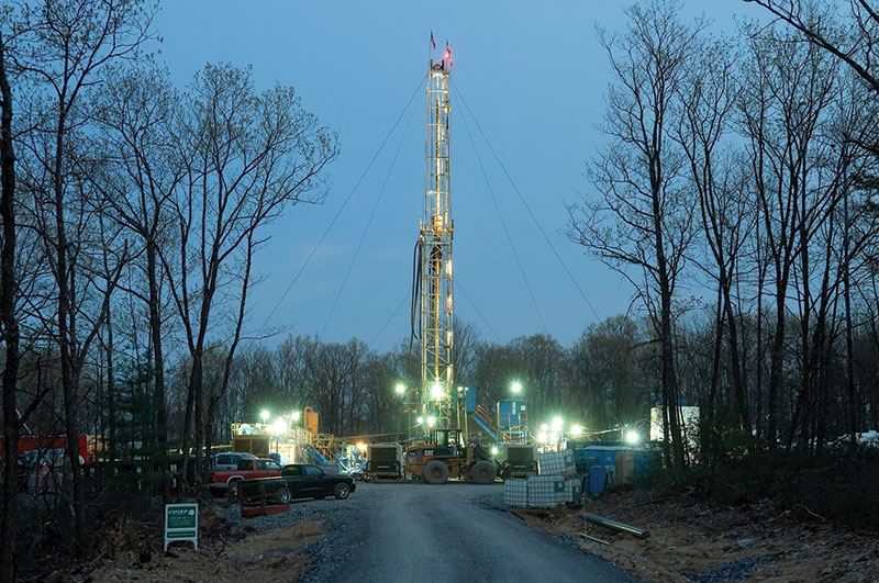 One of the year's top stories remains the surprising Marcellus Shale play, which has brought activity and interest to the eastern United States. Photo courtesy of Chief Oil and Gas