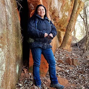 MVSP 2017 recipient Roberta Thompson researches Wichita Mountains and Atoka Formation mudrocks.