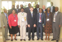 Officials of NAPE and AAPG Africa Region at a reception for Dr. Scott Tinker, AAPG President during the 2008 Annual NAPE International Conference & Exhibition