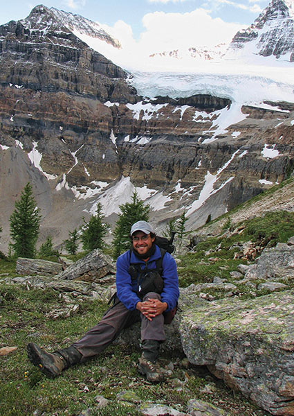 "Desjardins, and his beloved Canadian Rockies: ""The best thing is that by walking all over those mountains, I was able to find places where the rocks were just perfect to collect the data I wanted."