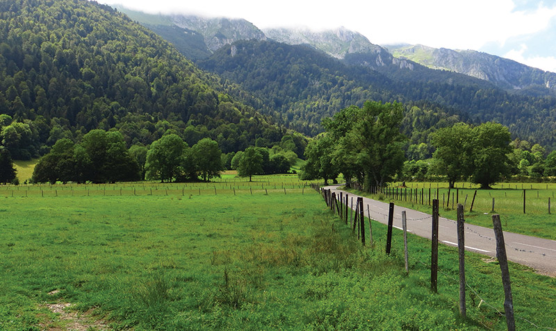 France's picturesque Pyrenees-Atlantique region, dotted with farms and wineries, has been an area of seismic activity this summer. Here, a view near Bilhères en Ossau, Aquitaine. Photos courtesy of Bernard Blanc
