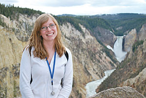 Mollie Pettit in the Yellowstone - Grand Canyon.