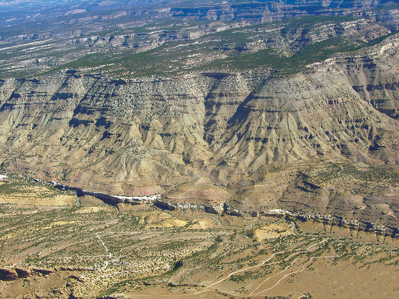 Colorado's Piceance Basin Mesaverde outcrop. Photo courtesy of Bill Barrett Corp