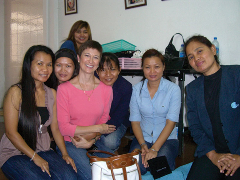 Natalie Shirley (in pink, third from left) and some of women involved in the NightLight initiative.