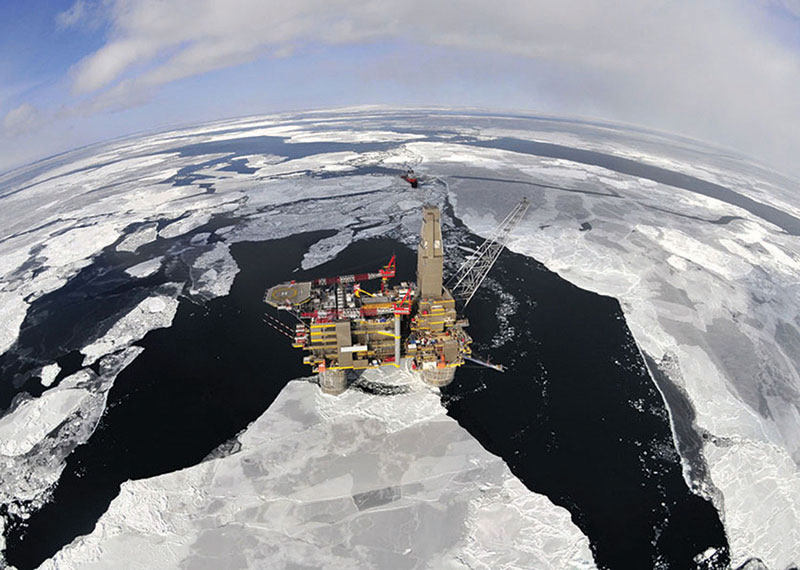 North America led the way, but the entire world made 2012 a memorable year. Above, the Sakhalin II offshore platform, Russia.Photo courtesy of Shell