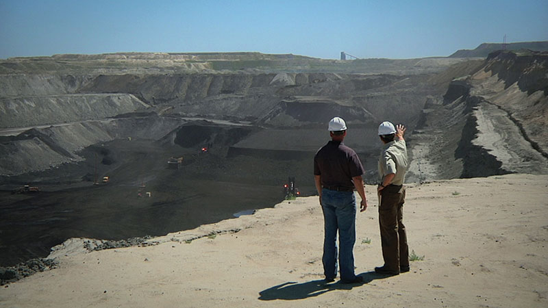 Belle Ayr Mine manager Shane Durgin gives Tinker a tour and overview of a coal mine in Wyoming's Powder River Basin. Photos courtesy of Switch Energy Project
