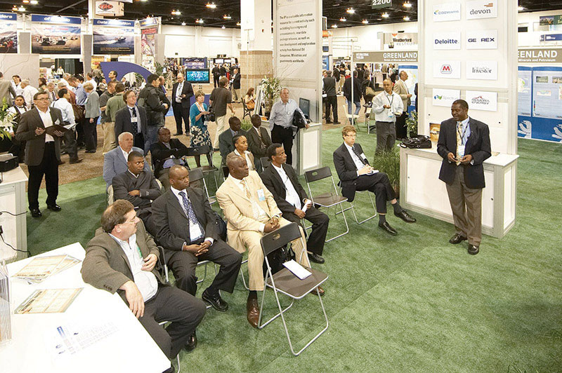 The International Pavilion, which Morrice helped create, has become an important part of AAPG events.