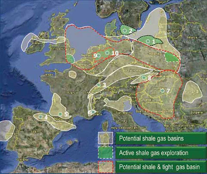 Shale gas exploration is no longer just a U.S. priority – countries around the world are joining the hunt, including some areas in Europe that hold huge potential.