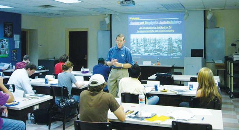 Fred Schroeder, a Houston-based VGPer, initiated a series of short courses that have become very popular with students. Photo courtesy of Chuck Caughey
