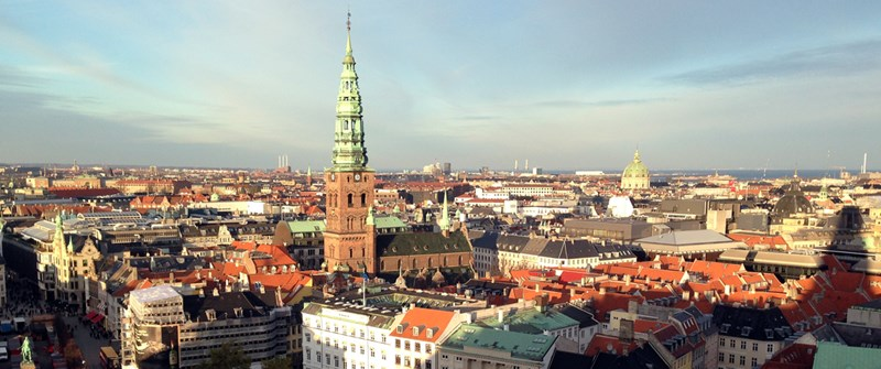 Copenhagen Skyline, courtesy CivArmy@WikimediaCommons