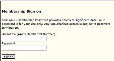 AAPG Membership Sign On